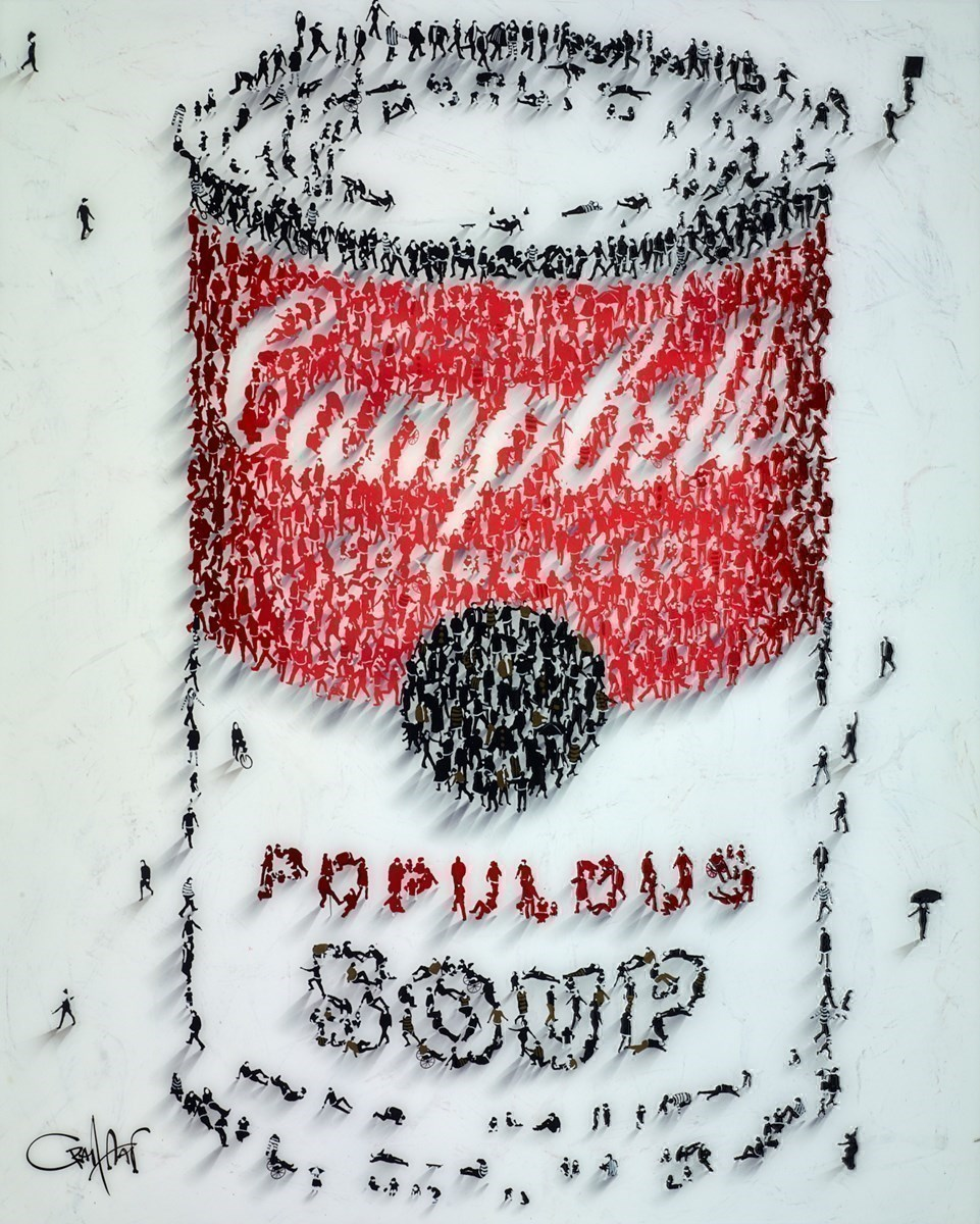 Populous Soup II by Craig Alan -  sized 24x30 inches. Available from Whitewall Galleries